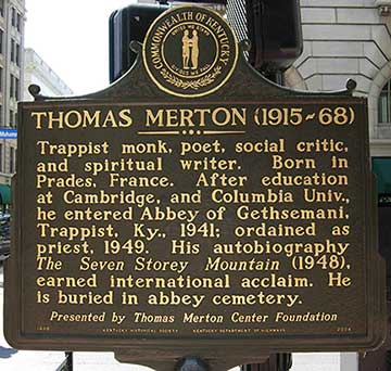 Thomas Merton Square Plaque